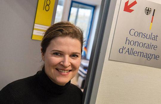 Janina Blosfeld-Cressard consule d'Allemagne à rennes